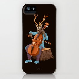 Musician animals in the wood iPhone Case
