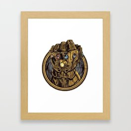 Infinity War Hand 3D Thanos Framed Art Print