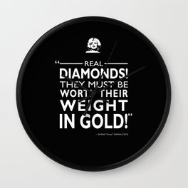 Real Diamonds! Wall Clock