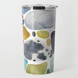 Pebbles and glass Travel Mug