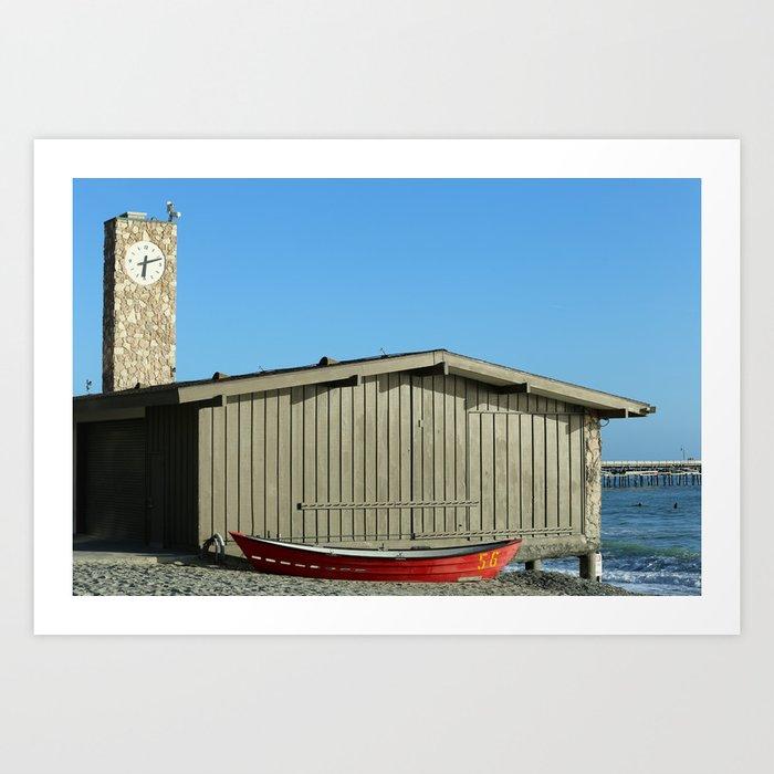 San Clemente Life Guard Tower Art Print