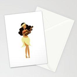 Ukulele Girl Stationery Cards