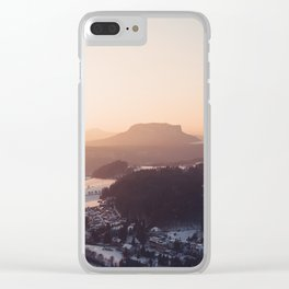 Sunrise in Saxon Switzerland Clear iPhone Case