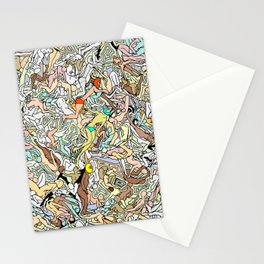 Martians Invasion Stationery Cards