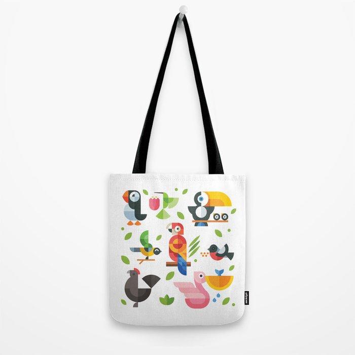 Birds in geometry Tote Bag