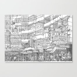 Hong Kong. Kowloon Walled City Canvas Print