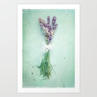 lavender Art Prints featuring lavender by Sylvia Cook Photography