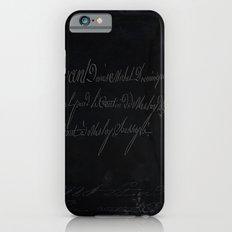 vintage stone throw deep board script texture iPhone 6s Slim Case