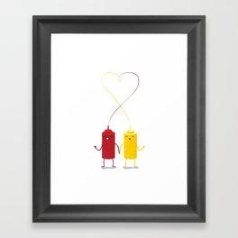 party couple Framed Art Print