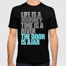The Door is Ajar Mens Fitted Tee MEDIUM Black