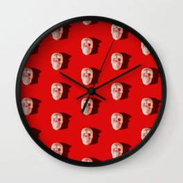 Pattern of skull candies with an interesting silhouette for a shadow Wall Clock