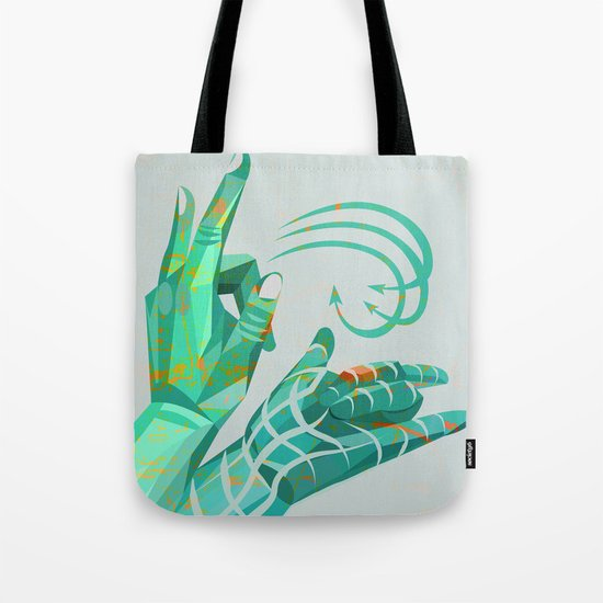 hand-shape aesthetic Tote Bag