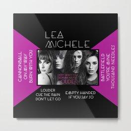 Louder by Lea Michele Metal Print