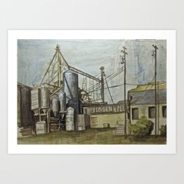 Industrial Fresno Art Print