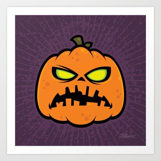 Pumpkin Zombie Art Print