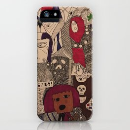 Daughter/Mother Doodle iPhone Case