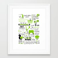 parks Framed Art Prints featuring London Parks by Daniel Gray