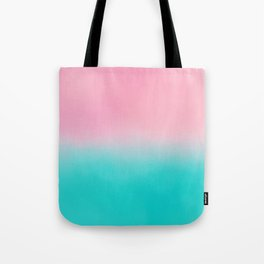Artistic blush pink tropical turquoise watercolor ombre Tote Bag