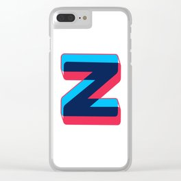 Letter Z Clear iPhone Case