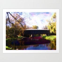 The Covered Bridge Art Print