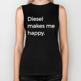 Diesel Makes Me Happy Power Drive 4X4 Trucks Biker Tank