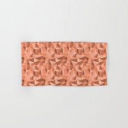 Abstract Geometrical Triangle Patterns 3 VA Fringe Orange - Orange Slice - Fiery Sky Orange - Heirlo Hand & Bath Towel