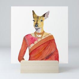 Chital in Sari Mini Art Print