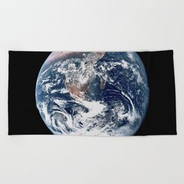 Apollo 17 - Iconic Blue Marble Photograph Beach Towel