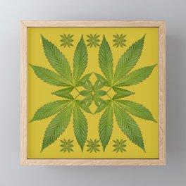 Marijuana Leaf Pattern Framed Mini Art Print