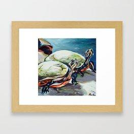 Brookside Turtles Framed Art Print