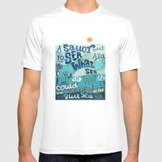A Sailor went To Sea Mens Fitted Tee MEDIUM White