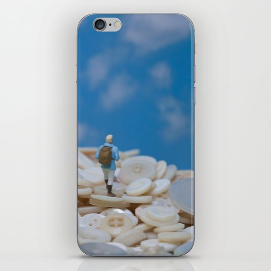 The Great Button Hike iPhone Skin