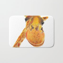 Cute Giraffe ' BENNY ' by Shirley MacArthur Bath Mat