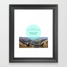 Dear Past, Dear Future Framed Art Print
