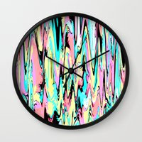the strokes Wall Clocks featuring Abstract Strokes by Jenna Davis Designs