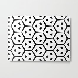 Van Trijp Black & White Pattern Metal Print