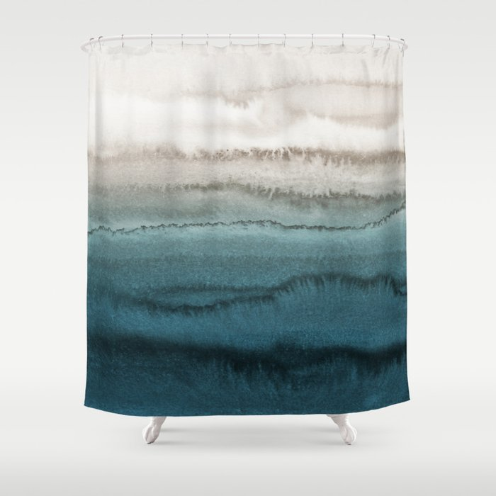 WITHIN THE TIDES - CRASHING WAVES TEAL Duschvorhang