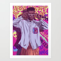 90s Art Prints featuring 80/90s - GW by Mike Wrobel