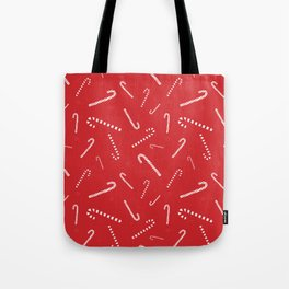 Candy Canes (Red) Tote Bag