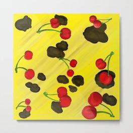 Bananas & Cherries Metal Print