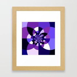 Purple Kaleidoscope Mandala Framed Art Print