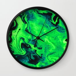 Black and Green Marble Painting Wall Clock