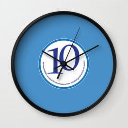 Baked (blue-meters) Wall Clock