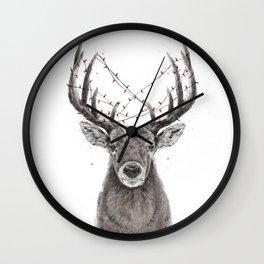 Xmas deer Wall Clock