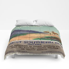 Vintage poster - Ireland Comforters