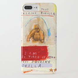Gratuitous Simian Profanity. iPhone Case