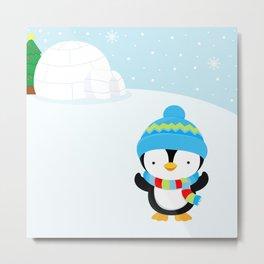 Cute penguin boy #1 Metal Print