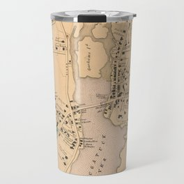 Vintage Map of Westport CT (1867) Travel Mug