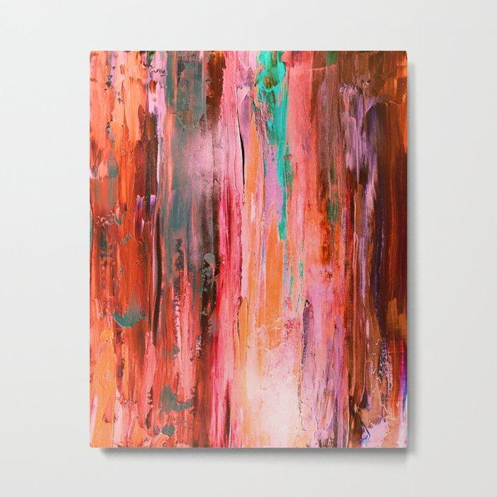 Abstract Blush Pattern Metal Print