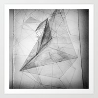 triangle Art Prints featuring triangle by Katekima